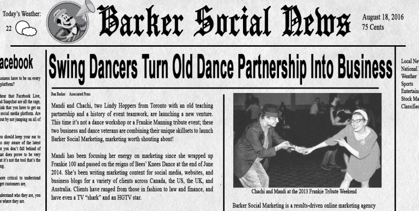 Swing Dancers Take Old Dance Partnership Off the Dance Floor and Into Business