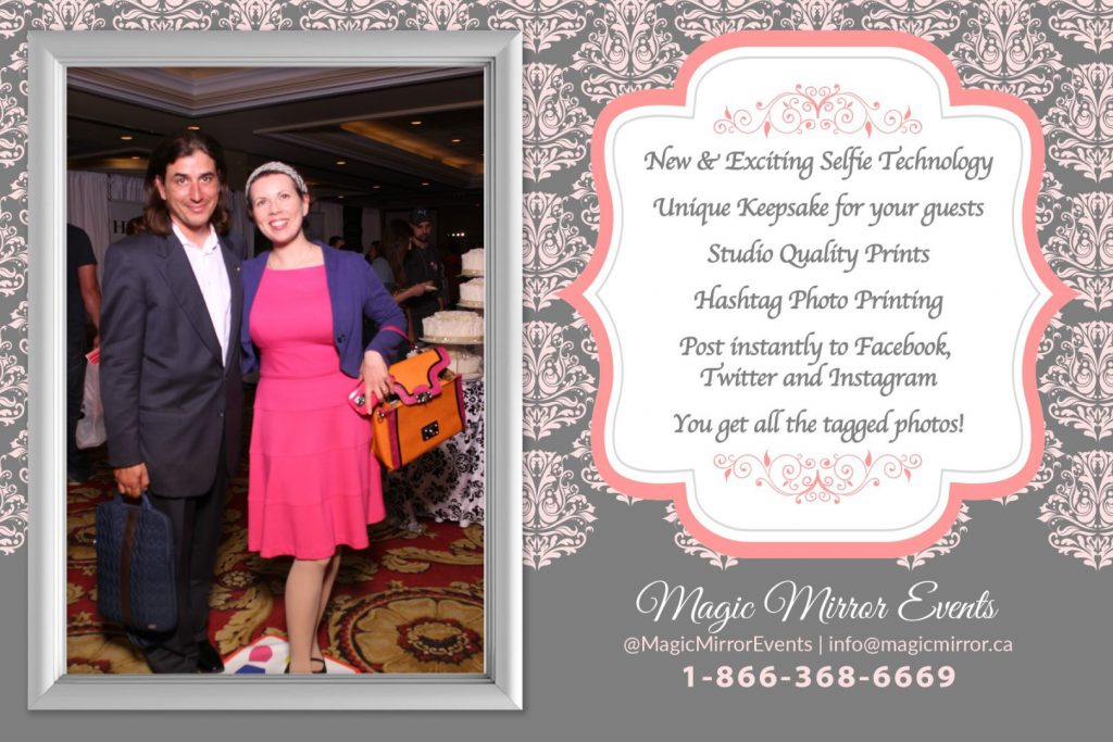 Another fun photo booth idea -- the Magic Mirror! You look into a mirror and it takes your picture. Cute idea. magicmirror.ca