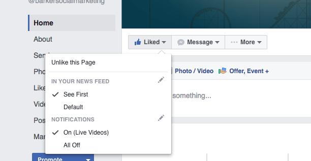 Optional Facebook Settings