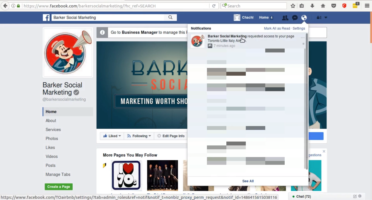 how to find the admin of a facebook page 2017